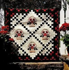 WICKER BASKET WITH FLOWERS  APPLIQUE  & BLOCK VINTAGE QUILT PATTERN