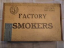 Antique Wood Cigar Box J. E. Rauh Co. Milwaukee. Union Stamp Sept. 1880