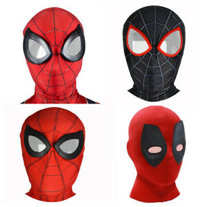 Spider-man Face Hats Halloween Cosplay Costume Props Masks Deadpool Superhero