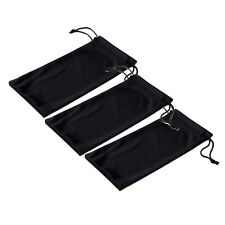 Black Microfiber Pouch Bag Soft Cleaning Case Sunglasses Eyeglasses Glasses