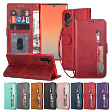 For Samsung Galaxy Note 10 Plus Leather Wallet Pocket Magnetic Phone Case Cover