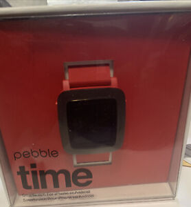 Pebble Time SmartWatch 501-00022 Red band, Apple & Android
