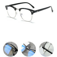 VINTAGE Half-Rim Clear Lens Eyeglass Frames Retro Designer Spectacles Glasses US