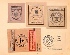 Az224 1944-49 Austria sigilli ufficiali Germania Inc 'ww2 ETICHETTE nazisti {samwells} PTS
