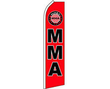 MMA Mixed Martial Arts Red / Black Swooper Super Feather Advertising Flag