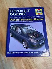 Workshop Car Manual Renault Scenic Petrol Diesel 03-06 H4297 Haynes Owners