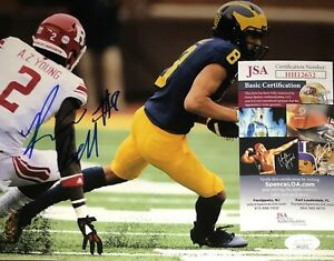Ronnie Bell Michigan Wolverines Signed 8x10 Autographed Photo COA JSA N1