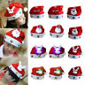 Christmas LED Hat New Year Xmas Kids Adult Santa Claus Reindeer Snowman Cap Hat