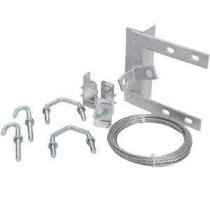 "Chimney lashing kit superior quality complete 6"" TV Aerial mounting bracket"