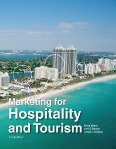 Marketing For Hospitality And Tourism 2013 Hardcover Textbook