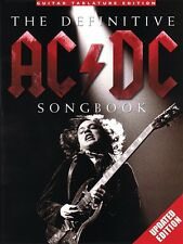 The Definitive AC DC Songbook Sheet Music Updated Edition Book NEW 014041344