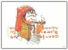 Ex-libris COSEY Femme girafe au cigare Birmanie 250ex-s 15x21