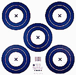 5 Archery 5 Spot Indor Target Face 17X17 #1541 2 Sided
