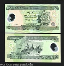 SOLOMON ISLANDS 2 DOLLARS P23 2001 COMMEMORATIVE POLYMER UNC MONEY BILL BANKNOTE