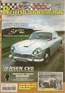 BRITISH AUTOMOBILE MAGAZINE 9 JENSEN CV8 SPEEDWELL MINI 134CH LOTUS ELITE FASTBA