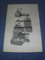 VINTAGE   ITALIAN AMERICAN COMMUNITY CENTER ALBANY NEW YORK MENU