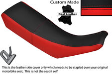 BLACK & RED CUSTOM FITS YAMAHA DT 125 R DTR 99-03 DUAL LEATHER SEAT COVER