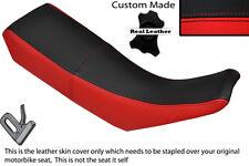Negro Y Rojo Custom Fits Yamaha Dt 125 R Dtr 99-03 Doble Cuero Funda De Asiento