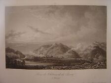 Grande gravure Prise du Château de la PIETRA le 4 septembre 1796 Bagetti Skelton