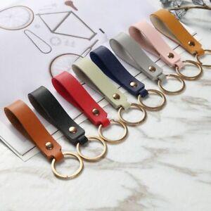PU Leather Key Holder Lanyard Strap Waist Wallet Key Chain Accessory Decor Gift