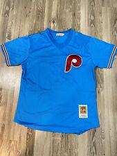 Bryce Harper Philadelphia Phillies Throwback Jersey Light Blue Med Large XLarge