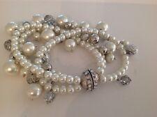 RSVP magnetic pearl & crystal  bracelet