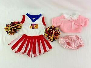 Dan Dee Doll Bear Clothing Lot Cheerleader Pom Pom Sweater