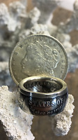 American History Top Quality 1921 Morgan Silver Dollar Hand Crafted Coin Ring