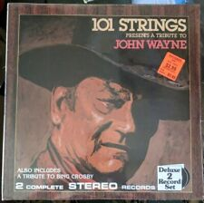 101 Strings Presents Tribute To John Wayne Two Record Set Alshire ‎S-5371 sealed