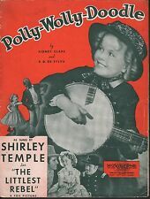 Polly Wolly Doodle 1935 The Littlest Rebel Shirley Temple Sheet Music