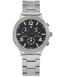 LUCKY BRAND Rockpoint Chronograph stainless steel bracelet 42mm Men's watch
