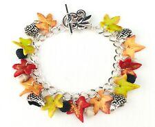 Hedgehog autumn bracelet, blackberry, mushbroom, fall, boho