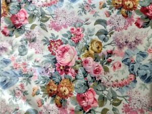 Ralph Lauren Allison King Flat Sheet Floral Roses