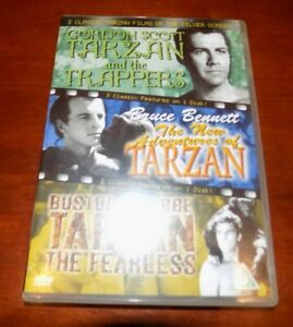 DVD  TARZAN & THE TRAPPERS / THE NEW ADVENTURES OF TARZAN / TARZAN THE FEARLESS