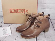 Pikolinos - Leather Lace-Up Ankle Boots - Zaragoza - Siena Brown