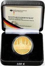 100 Euro+Goldmünze+Lübeck+A+
