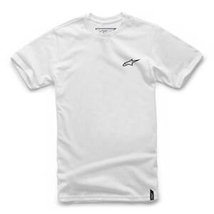 T-Shirt Sleeveless Short Original ALPINESTARS Neu Ageless White/Black - M
