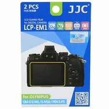 JJC LCP-EM1 LCD Screen Protector Guard Film for Olympus OM-D EM1,EM10,E-P5,E-PL7