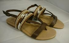 NEW 10 UGG Verona Serape Beaded Sandals Chocolate 1011005 NIB Strap Buckle Shoes