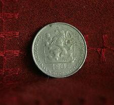 1985 Czechoslovakia 50 Haleru World Coin KM55.1 Czech Lion Shield Linden wreath