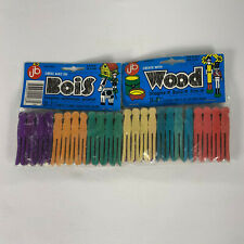 "Create With Wood Colored Miniature Flat Clothes Pins Clothespins 2 1/2"" 48 Count"