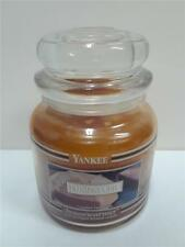 Yankee Candle Black Band Housewarmer Pumpkin Pie 14.5 oz. Medium Jar New