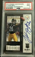 LEVEON BELL 2013 Panini Contenders AUTO TICKET AUTOGRAPH PSA MINT 9 HOT CHIEFS!!