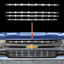 2019-20 Chevy Silverado 1500 CHROME Snap On Grille Overlay Grill Covers Inserts