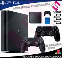 VIDEOCONSOLA SONY PS4 PLAYSTATION 4 500GB CONSOLA NEGRA + 2 DUALSHOCK 100% SONY