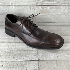 Alfani Brown Leather Oxford Shoes Mens size 12 Non-slip soles Made in Italy