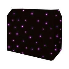 Equinox DJ Booth Quad LED Starcloth System, Black Cloth EQLED12N DJ Disco