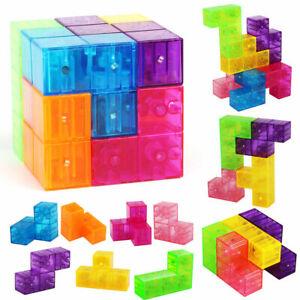 DIY 3D Educational Magnetic Blocks Building Kid Toy Construction Creative