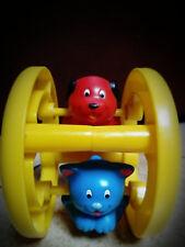 jouet d'éveil vintage Playskool-roue avec chat et chien
