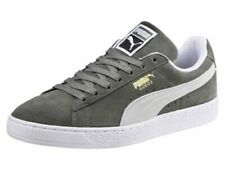 Puma Suede Classic Men's 9 Sneakers Pumps Casual Shoes - Gray / White 36534705
